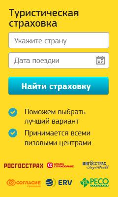 Туристическое страхование - 240*400